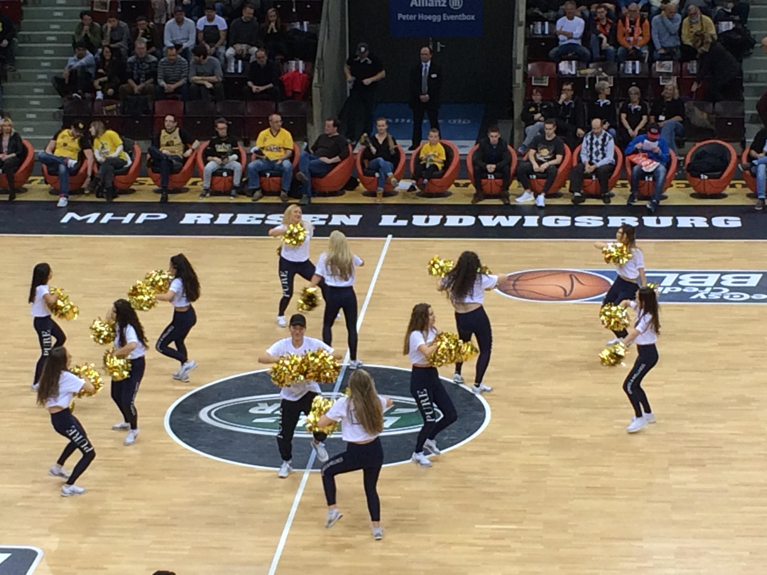 Basketballspiel in Ludwigsburg im Januar