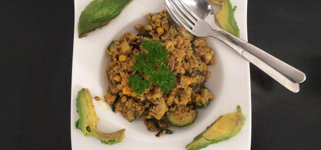 Rühr-Tofu mit Gemüse